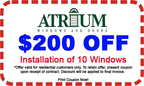 $200 Off Installation of 10 Windows